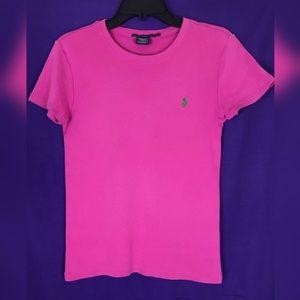 Ralph Lauren Sport Pink w/ Green Pony Logo Tee